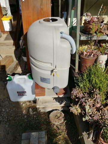 高砂市 助成金対象の雨水貯留タンク新設