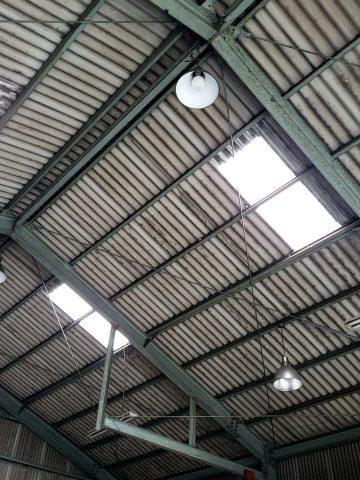 赤穂市 スレート屋根の明り採り