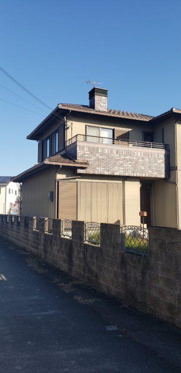 姫路市で外壁塗装する前の家