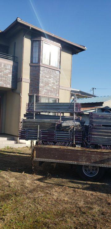 姫路市で外壁塗装の足場組の工程
