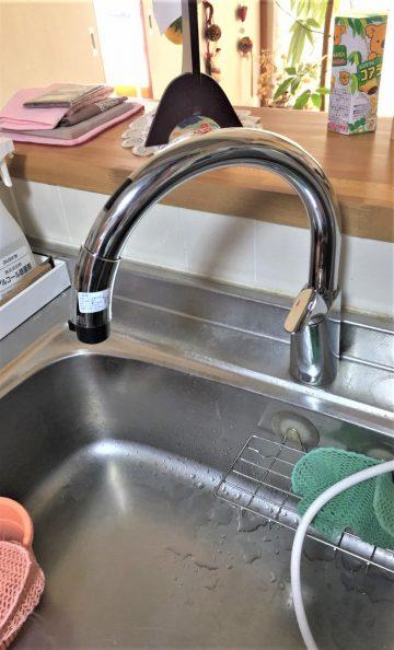 高砂市 キッチン自動水栓に