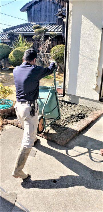 加古川市  空池を埋める