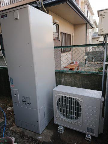 姫路市 電気温水器からエコキュートへ取替え
