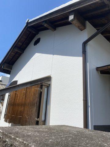 姫路市で外壁塗装した完工後の家の壁