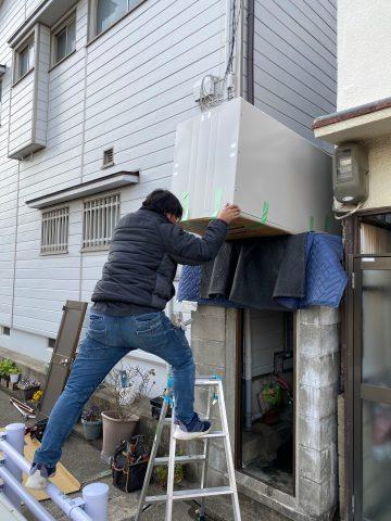 姫路市 とっても狭かったですが三菱エコキュート設置