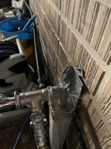立水栓破裂