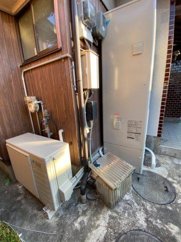 たつの市 電気温水器からエコキュートへ交換工事