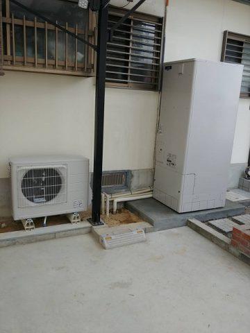 赤穂市 電気温水器からエコキュ-トに取替