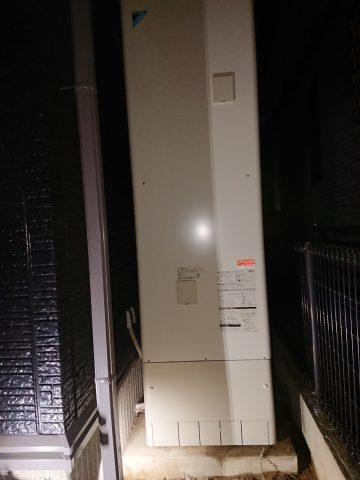 たつの市 電気温水器からエコキュートへ取替え
