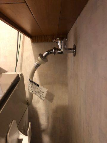 姫路市 洗濯水栓が水漏れ交換