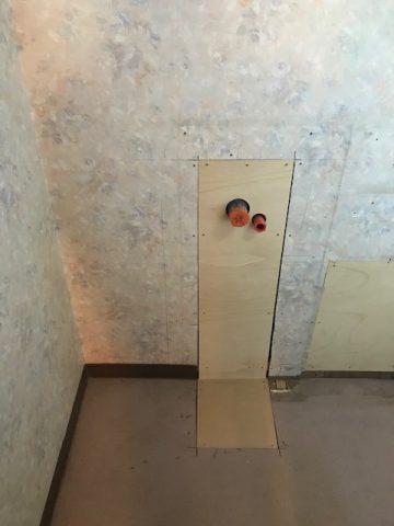 手洗器の給排水管