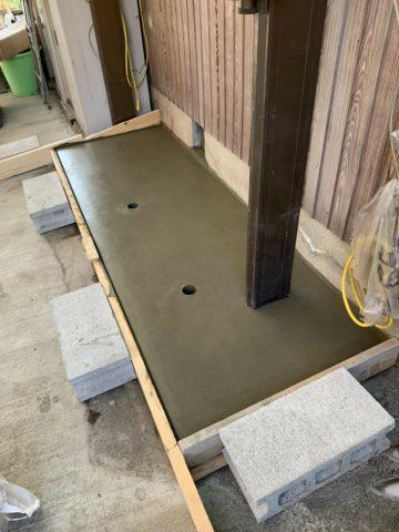 姫路市 洗濯機の土台コンクリート