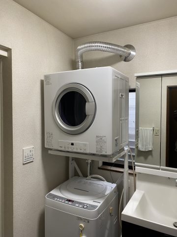 姫路市 ガス衣類乾燥機取付工事