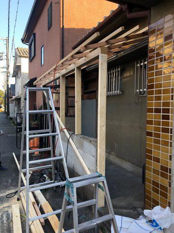 姫路市 木製テラスの造作