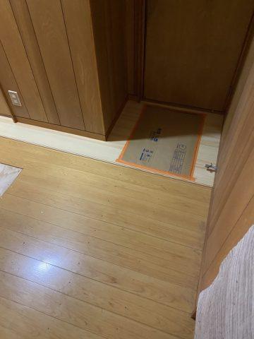 入り口廻り床修繕