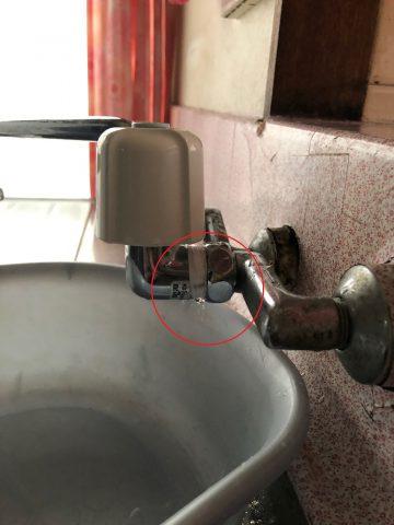キッチンの蛇口から水漏れ 取替
