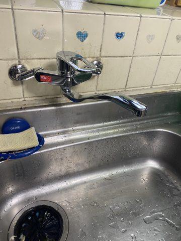 姫路市 キッチン水栓取替