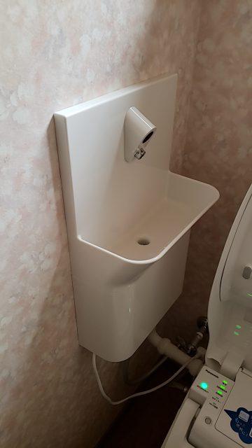 パナソニックのアラウーノ専用手洗い器設置後