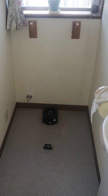 既存のトイレ撤去後配後