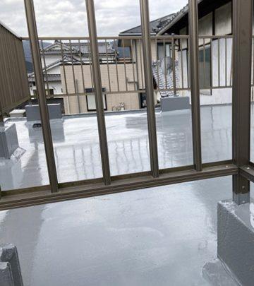 雨漏り対策で防水工事完工