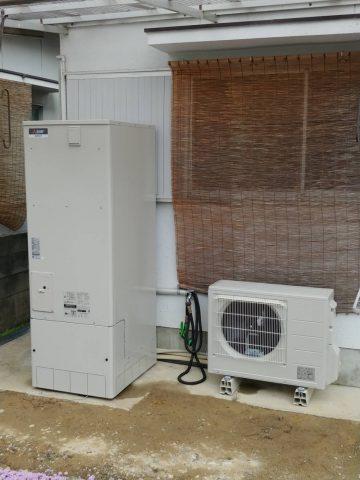赤穂市 電気温水器からエコキュート(給湯専用)に取替