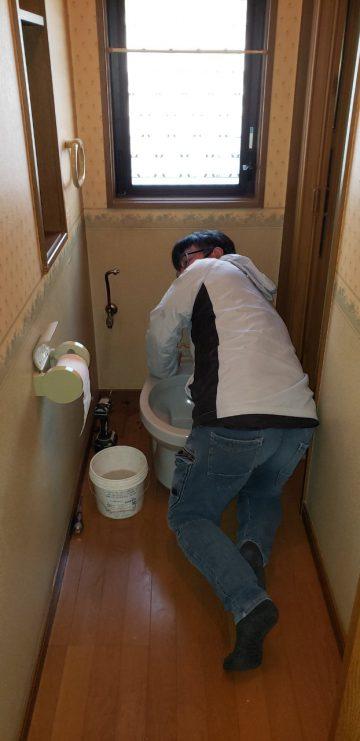 既存のトイレの撤去