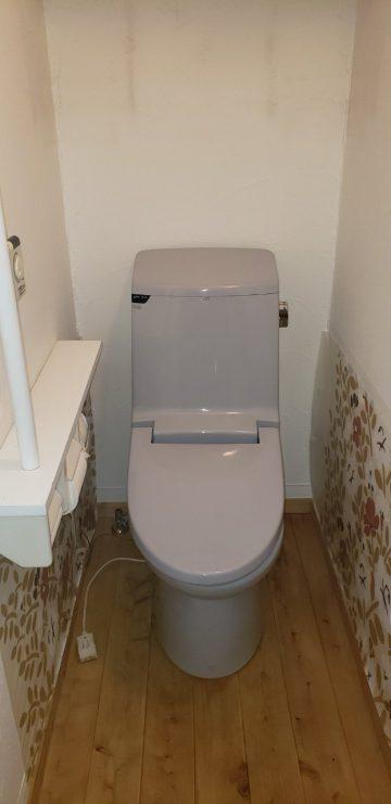トイレ取替工事前既存