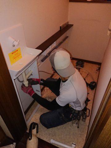 アラウーノS141の専用手洗い設置している