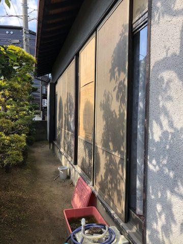木製雨戸をアルミ製雨戸へ交換