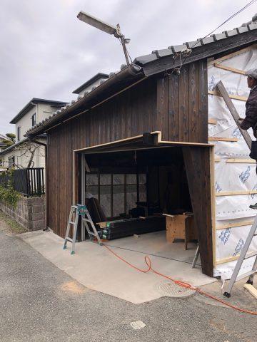 姫路市 納屋兼車庫改修工事