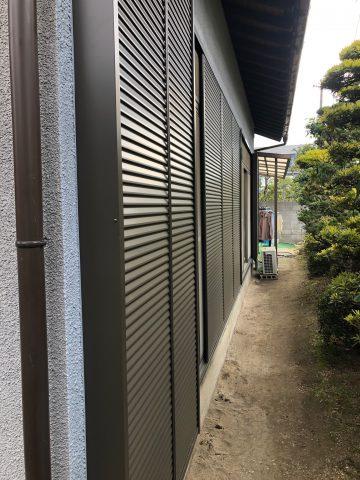 姫路市 木製の雨戸をアルミ製雨戸へ交換