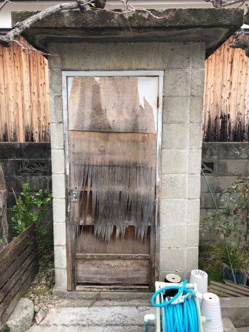 ドア交換 木製からアルミ