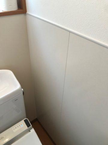 高砂市 サニタリーパネルを貼ったトイレ
