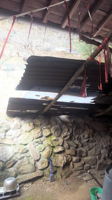 石垣の目地詰施工前