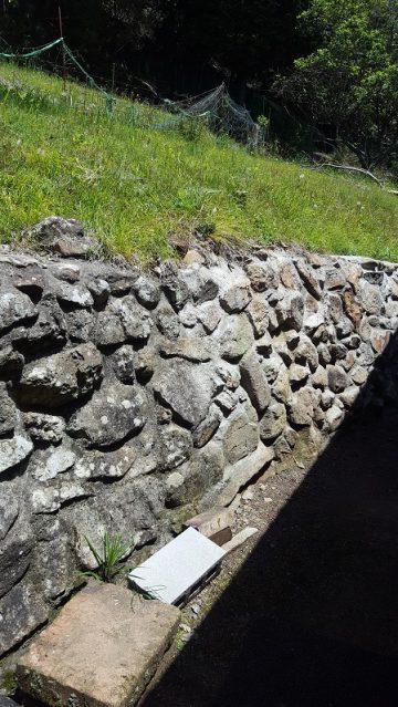 石垣の目地詰め施工後