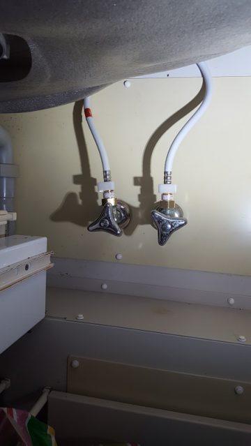 キッチン水栓取替施工後