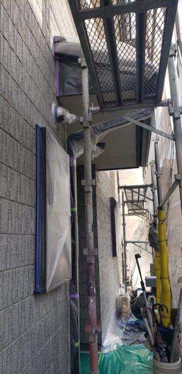 外壁塗装施工1日目の養生