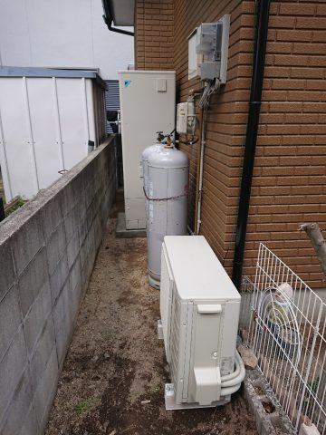 姫路市 ガス給湯器からエコキュートへ取替え