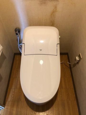 姫路市 マンション床上排水のトイレ交換