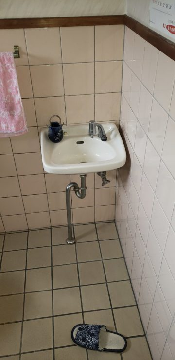 既設手洗い器