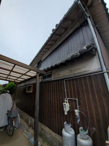 姫路市 トタン壁貼替え工事
