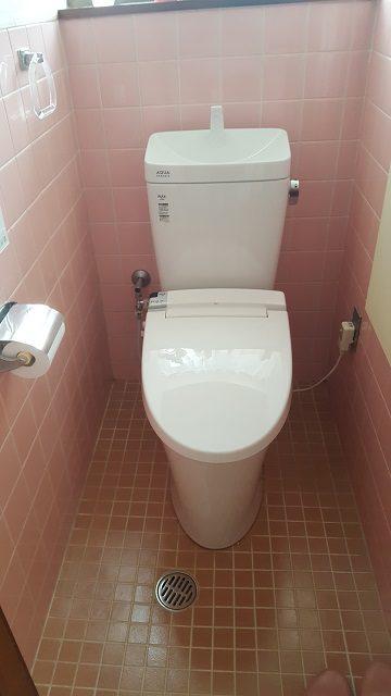 赤穂市 長い間使用したトイレを交換!