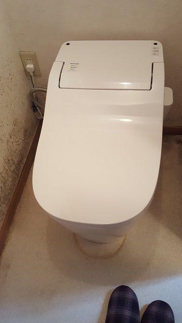 赤穂市 座りやすいトイレに取替!