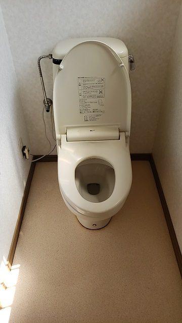 節水トイレなのに流れがすごい!施工前