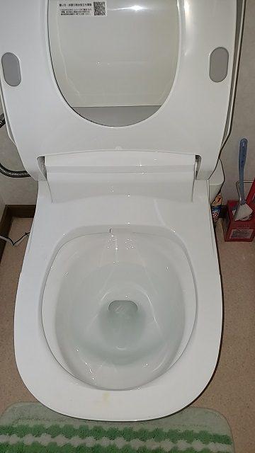 節水トイレなのに流れがすごい!施工後