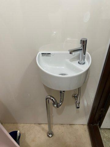 姫路市 トイレ手洗い取付工事