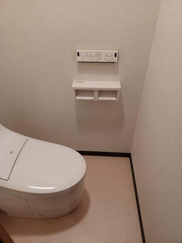 マンショントイレ床貼替