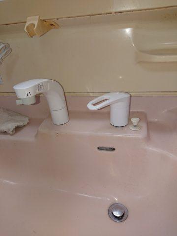 姫路市 洗面台の水栓金具取替え工事