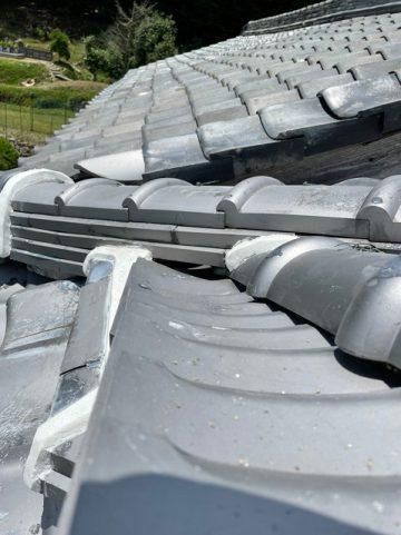 赤穂市 屋根瓦を補修!