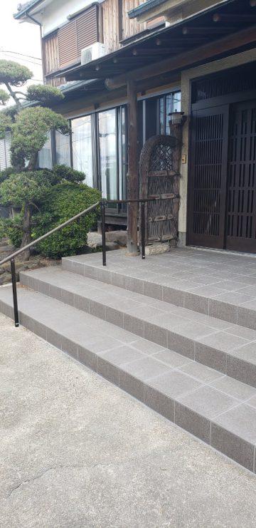 姫路市 玄関前タイル張り替え工事